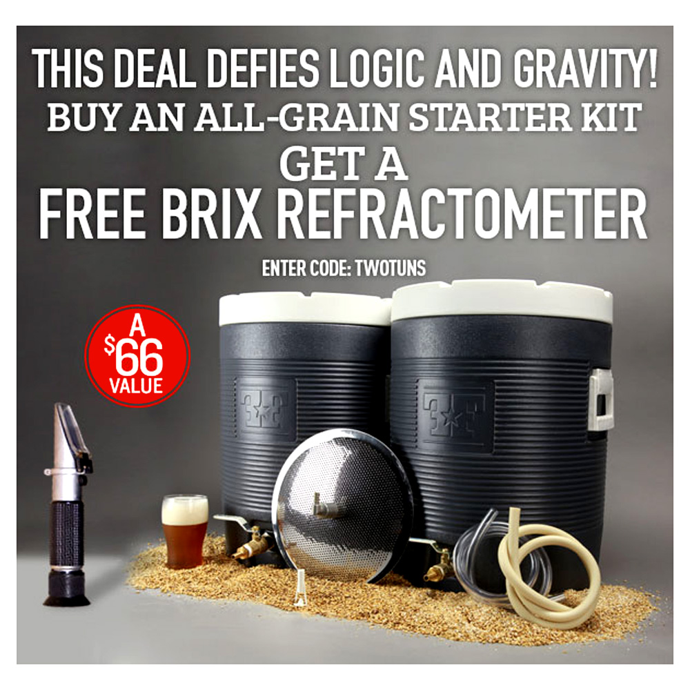 Home Brewer Promo Code for Free Refractometer with 10 Gallon All Grain System Purchase Coupon Code