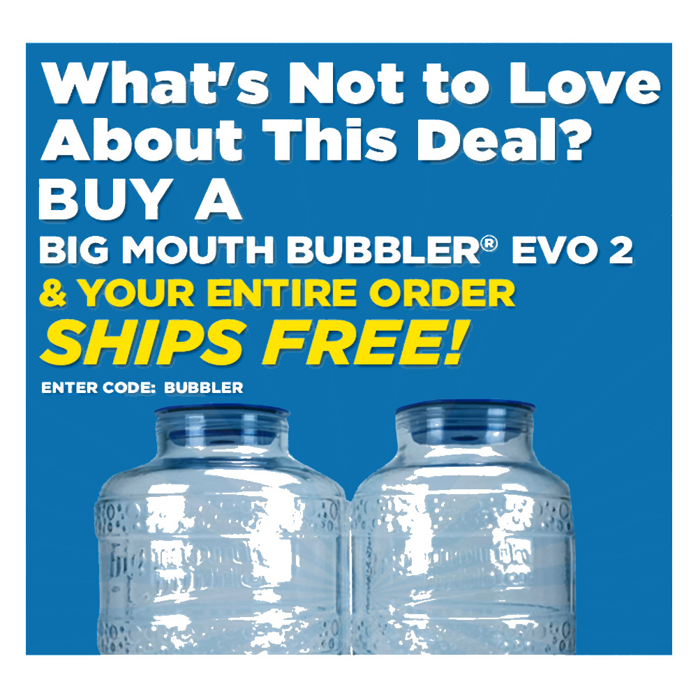 Home Brewer Promo Code for Buy a Northern Brewer EVO2 Big Mouth Bubbler and Get Free Shipping Coupon Code