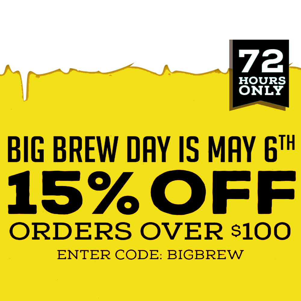 Home Brewer Promo Code for Save 15% On Orders Over $100 Coupon Code