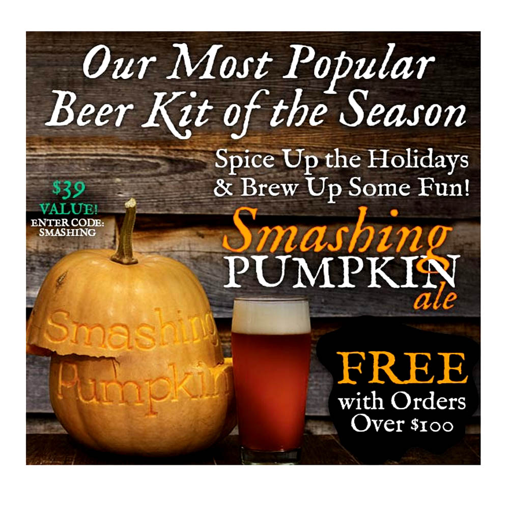Home Brewer Promo Code for Get a Free Pumpkin Ale Kit With A $100 Purchase Coupon Code