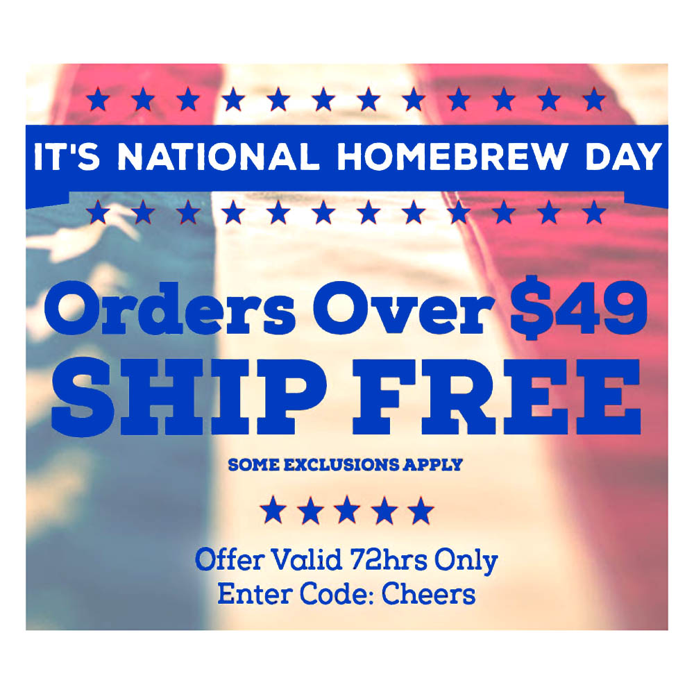 Home Brewer Promo Code for Free Shipping on Order Over $49 Coupon Code