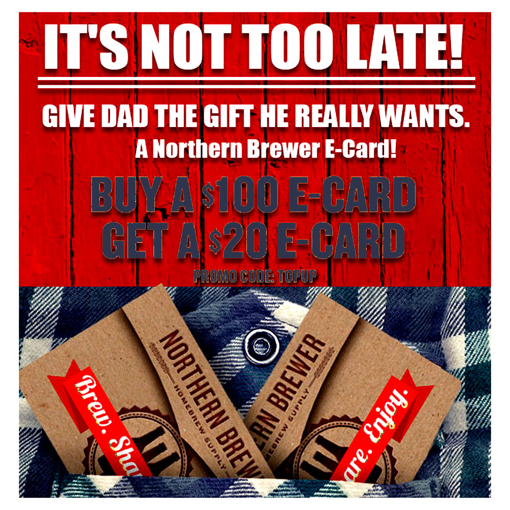 Home Brewer Promo Code for Buy A $100 Homebrewing Gift Card and Get A $20 E-Card FREE! Coupon Code