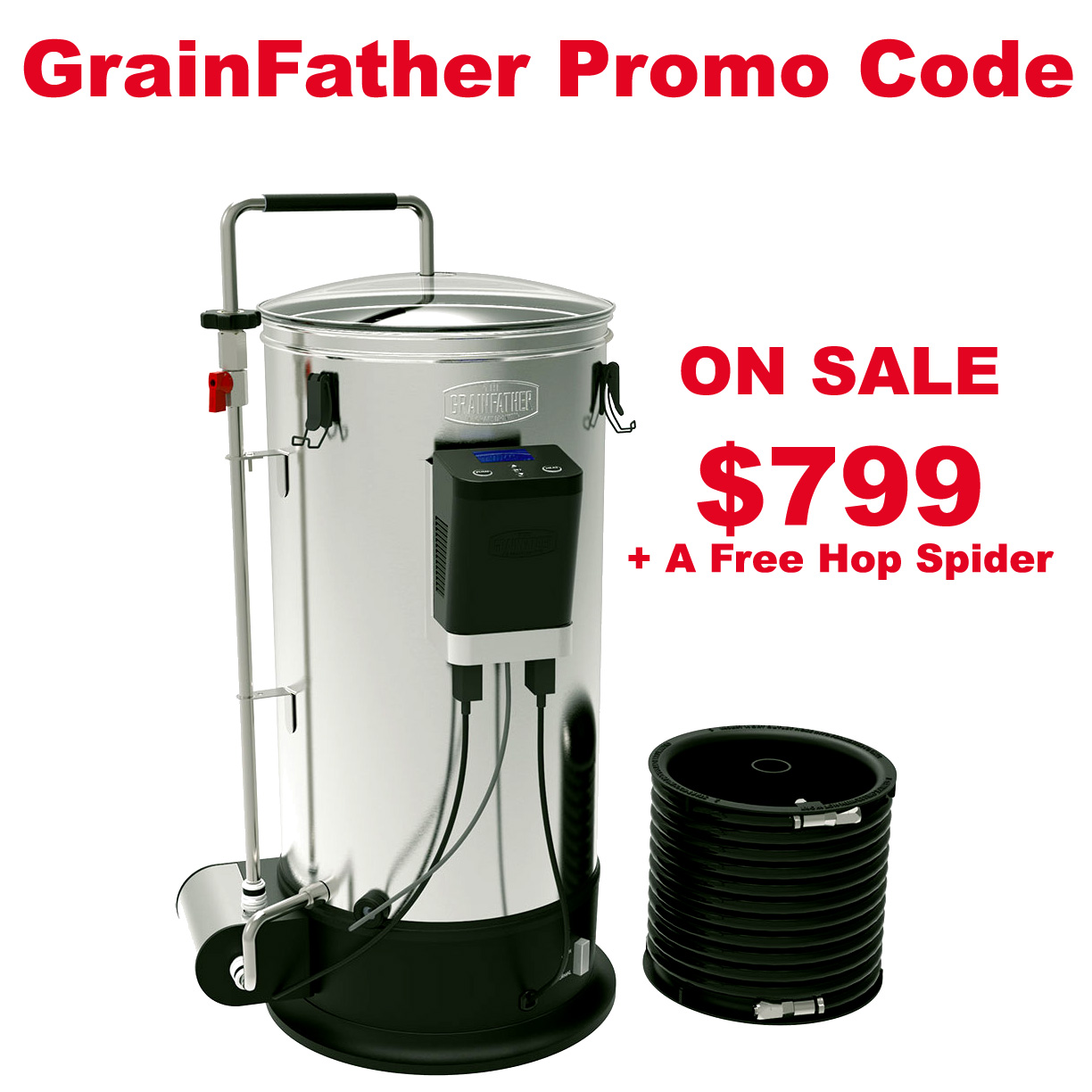 Home Brewer Promo Code for Get a New GrainFather Connect for Just $799 + A Free Hop Spider Coupon Code