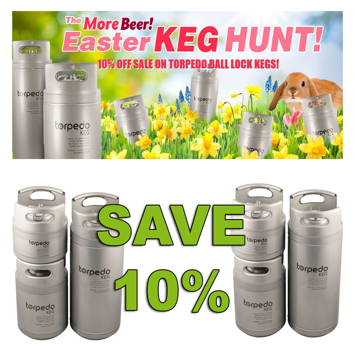 Home Brewer Promo Code for Save 10% On Torpedo Kegs with this More Beer Coupon Code Coupon Code
