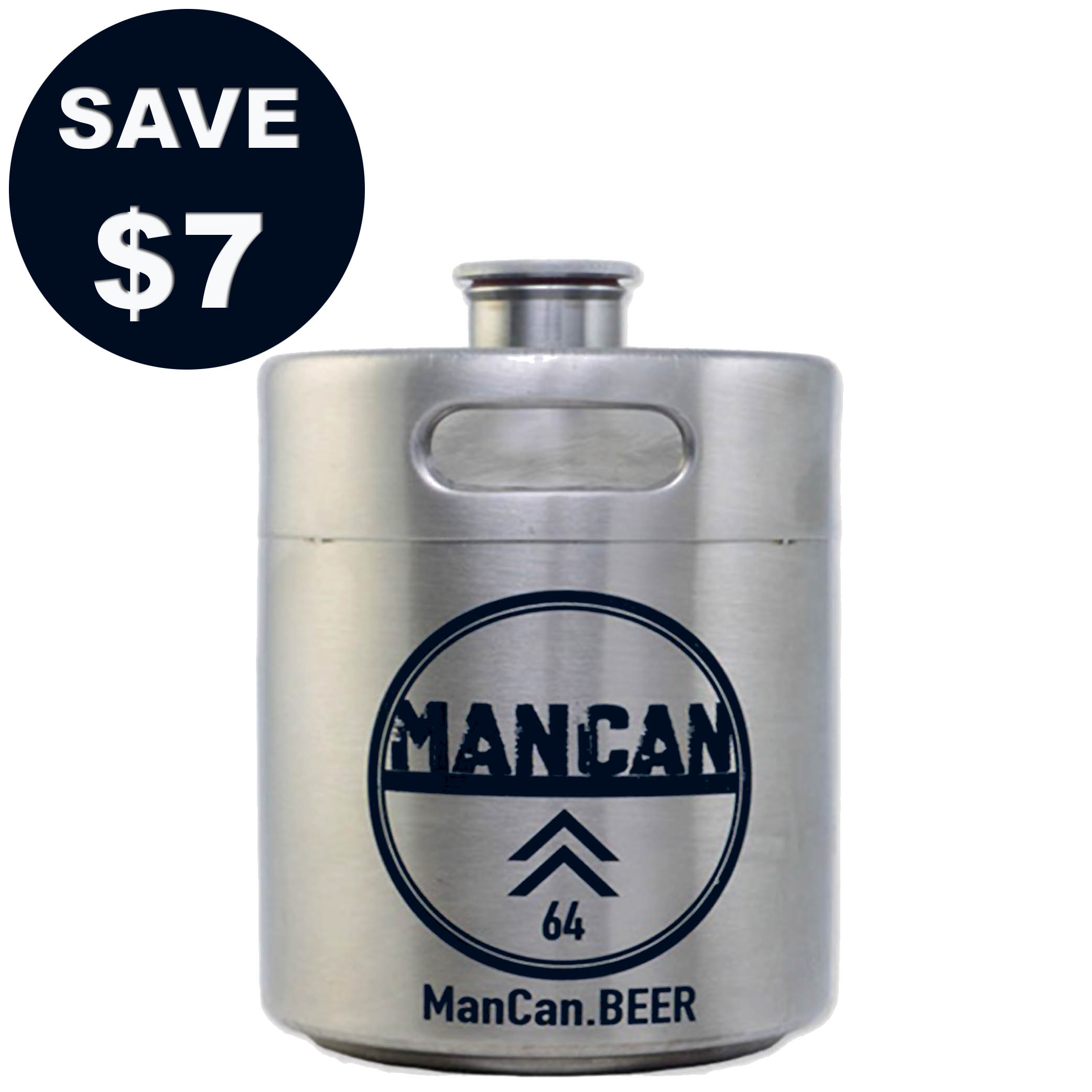 Home Brewer Promo Code for Save $7 on a Stainless Steel Mini-Keg Growler with this More Beer Coupon Coupon Code
