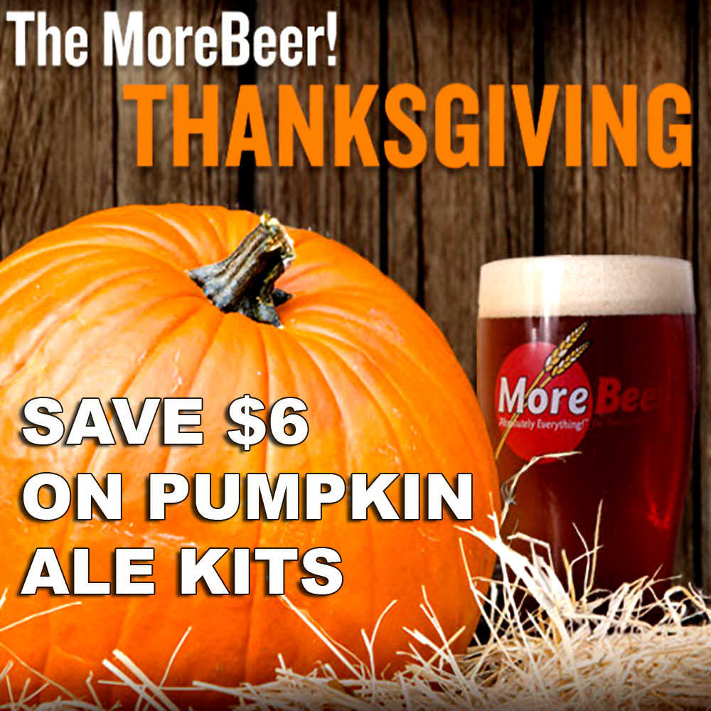 MoreBeer Save $6 On A Pumpkin Beer Kits and Free Shipping On Orders Over $59 Coupon Code