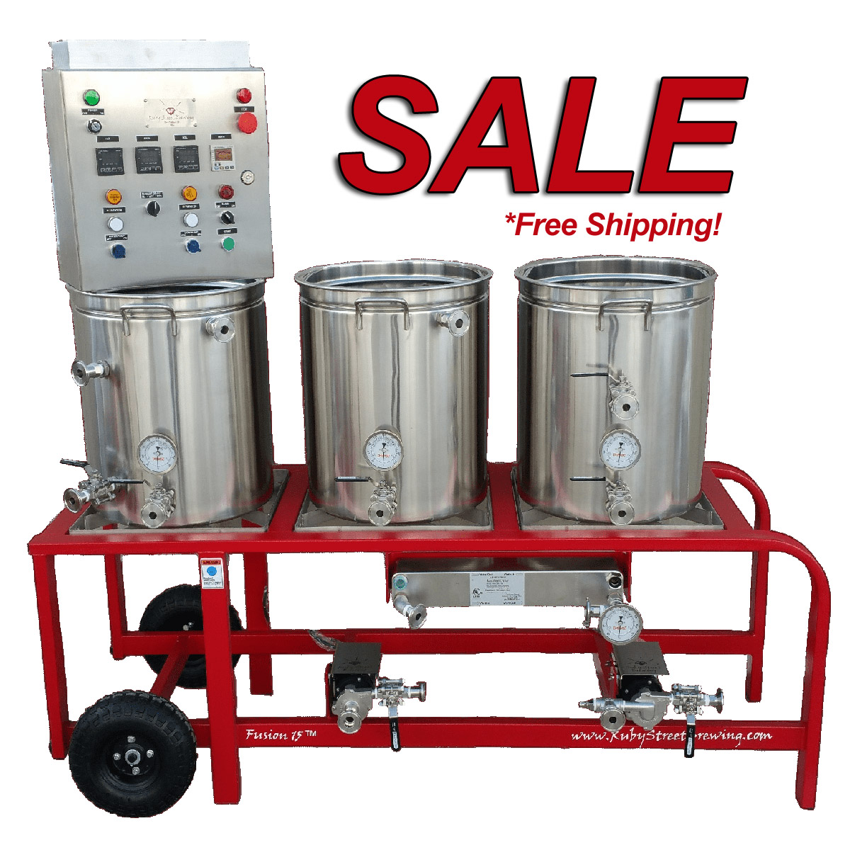 Homebrew Sale for Save up to $250 and get Free Shipping on Ruby Street Homebrewing Systems Sale