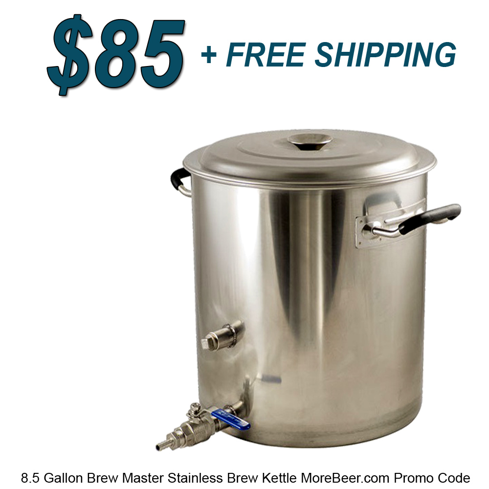 Home Brewer Promo Code for New 8.5 Gallon Brew Master Kettle for Just $84 Plus Free Shipping Coupon Code