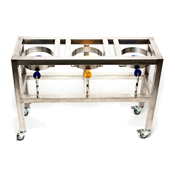 Adventures In Homebrewing Stainless Steel Brewing Rig With Burners Sale