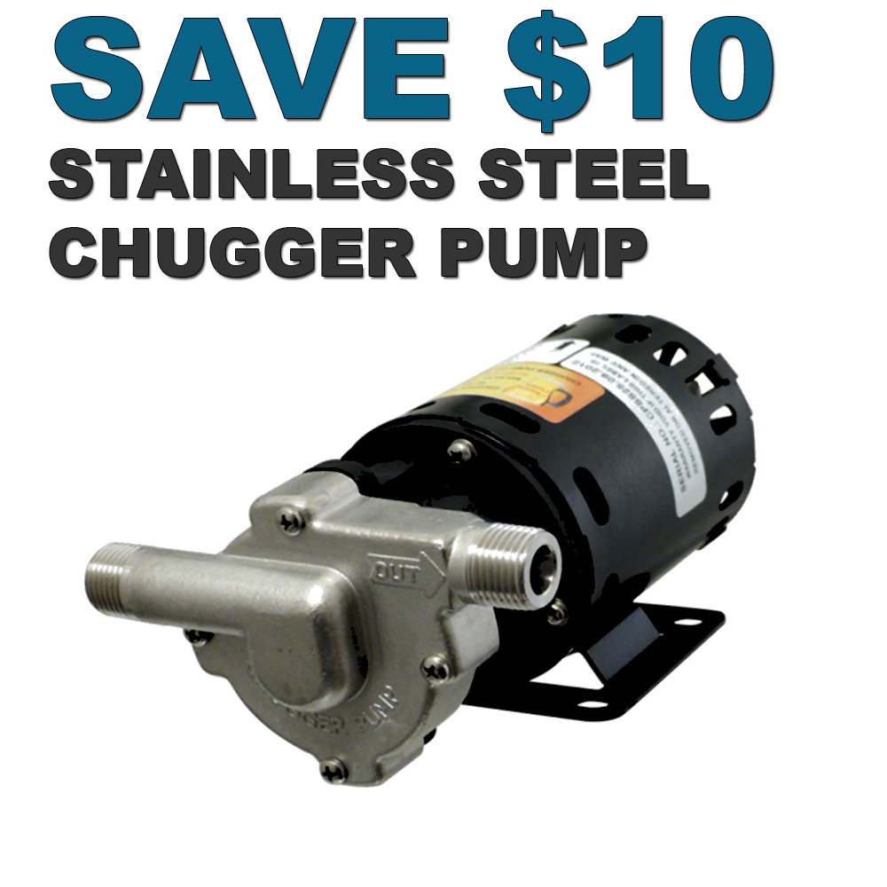 MoreBeer Save $10 On A Stainless Steel Chugger Pump Coupon Code