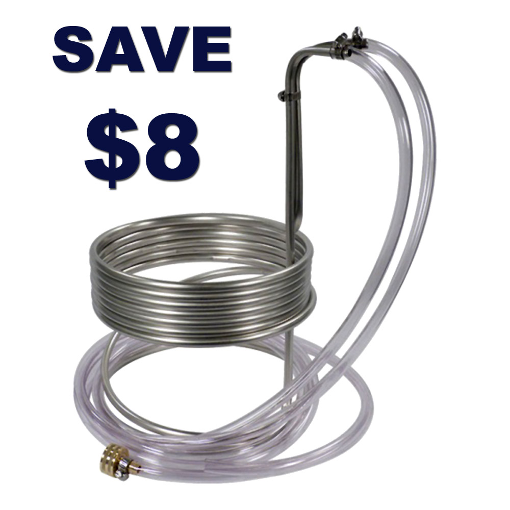 Home Brewer Promo Code for Save $8 On A Stainless Steel Home Brewing Wort Chiller Coupon Code