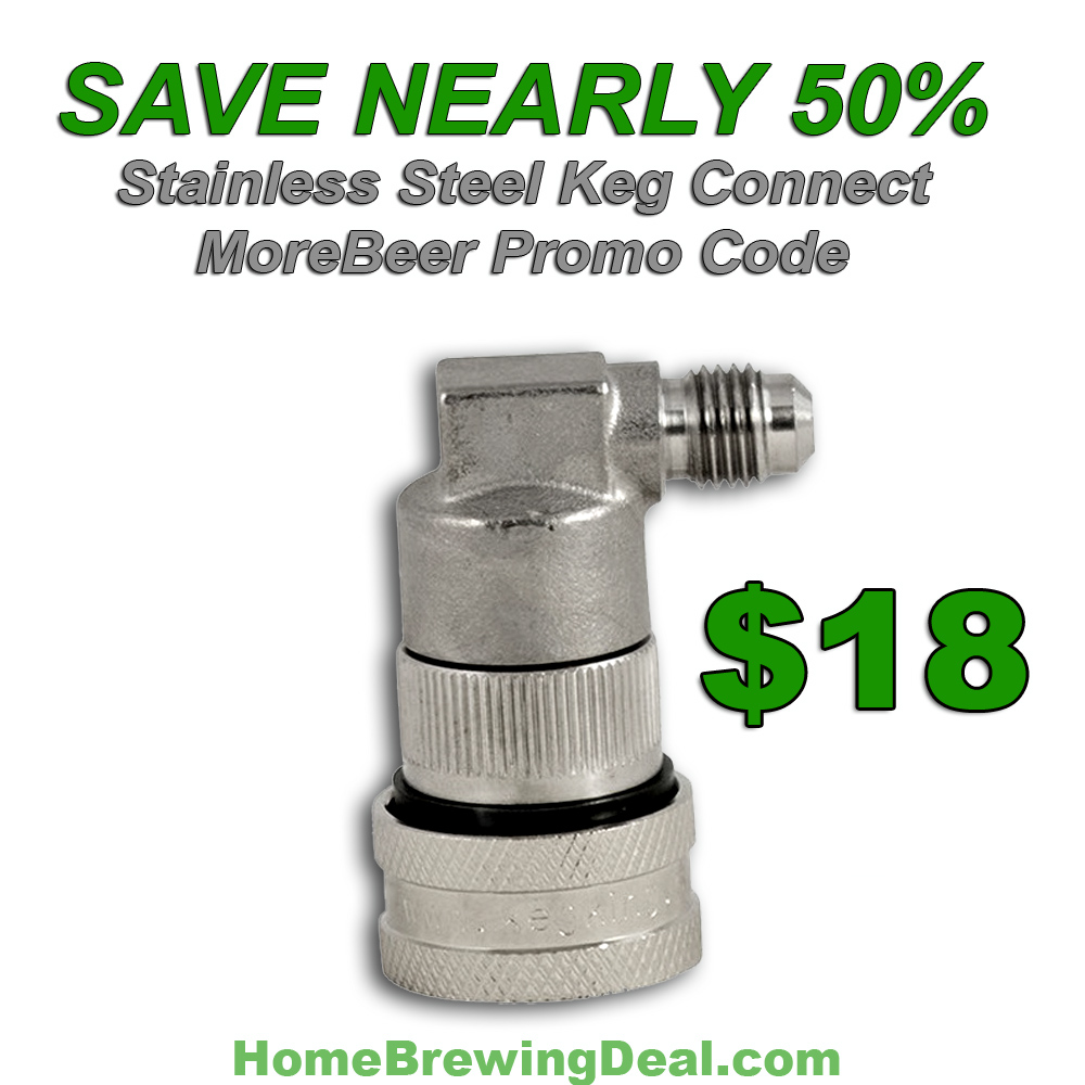 Home Brewer Promo Code for Save 45% On A Stainless Steel Keg Quick Disconnect  Coupon Code