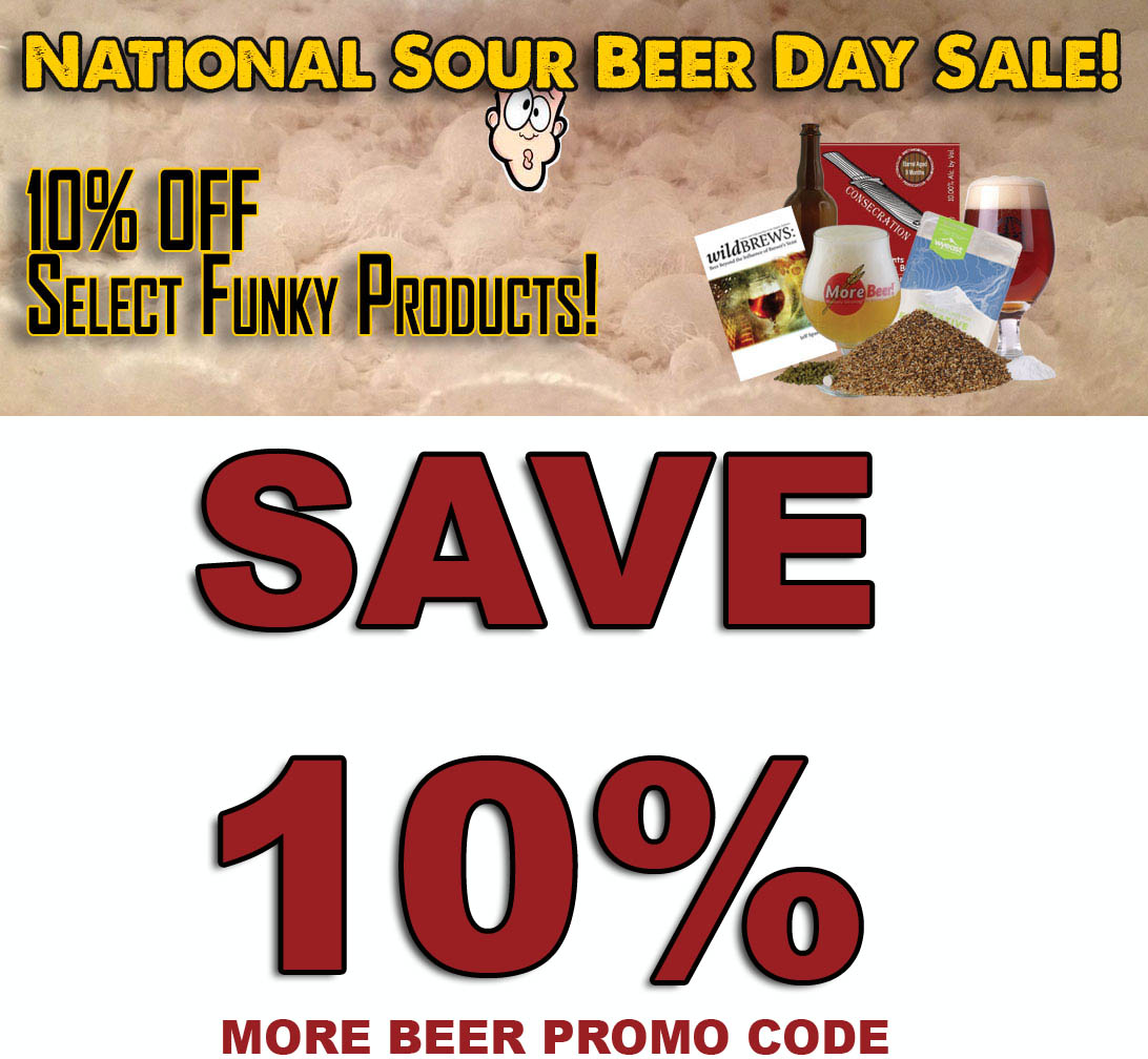 Home Brewer Promo Code for Save 10% On Sour Beer Kits at More Beer Coupon Code