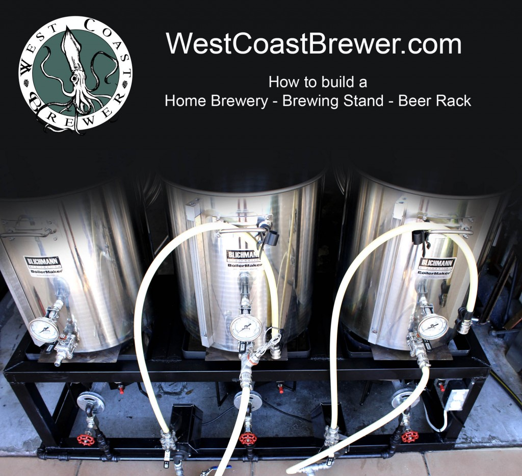 How to build a Home Brewery \ Beer Brewing Stand \ Brewing Rack \ Single Tier Brewing Sculpture