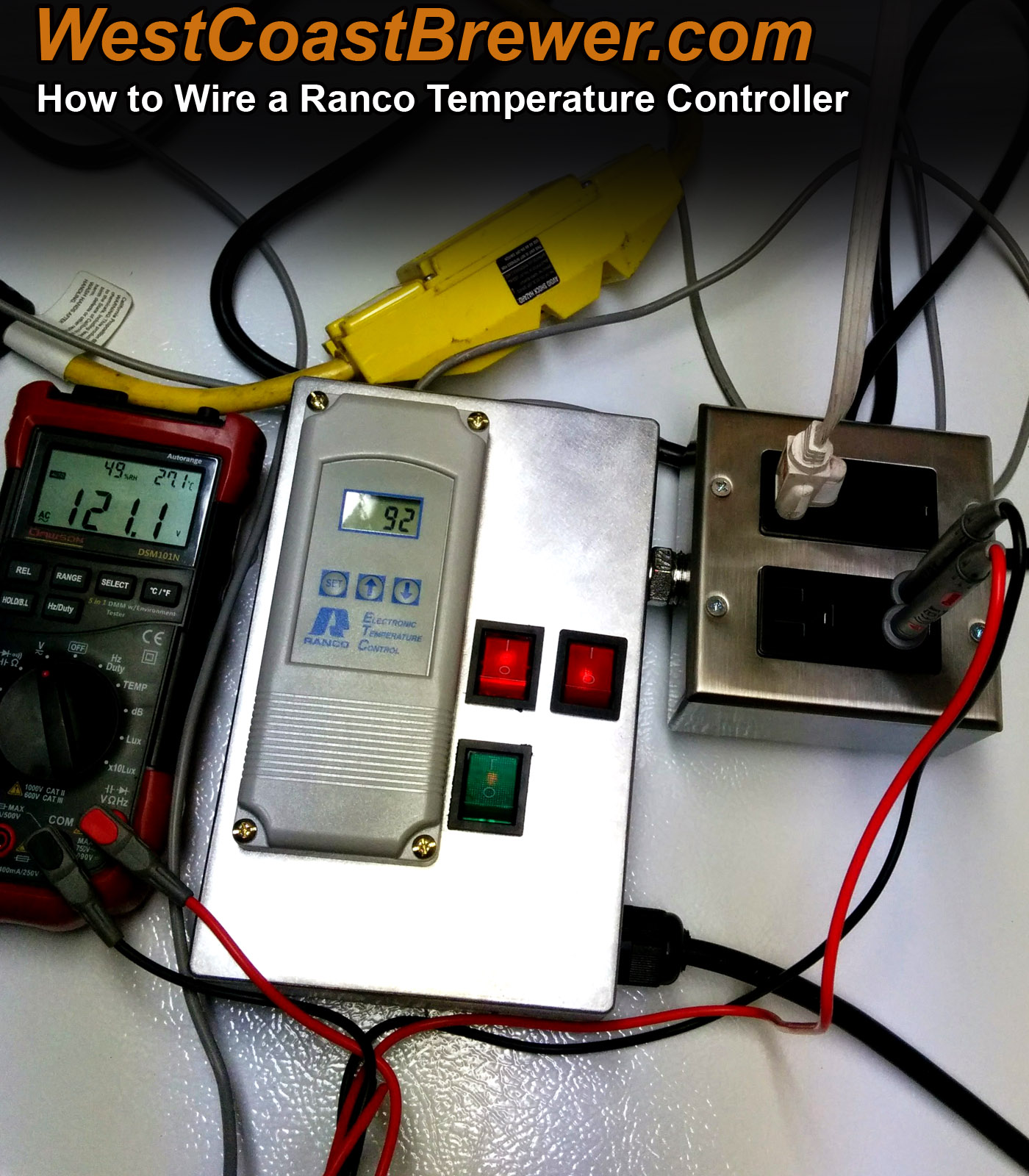 How to wire a Ranco digital temperature controller – 120v Brewers  #C48507