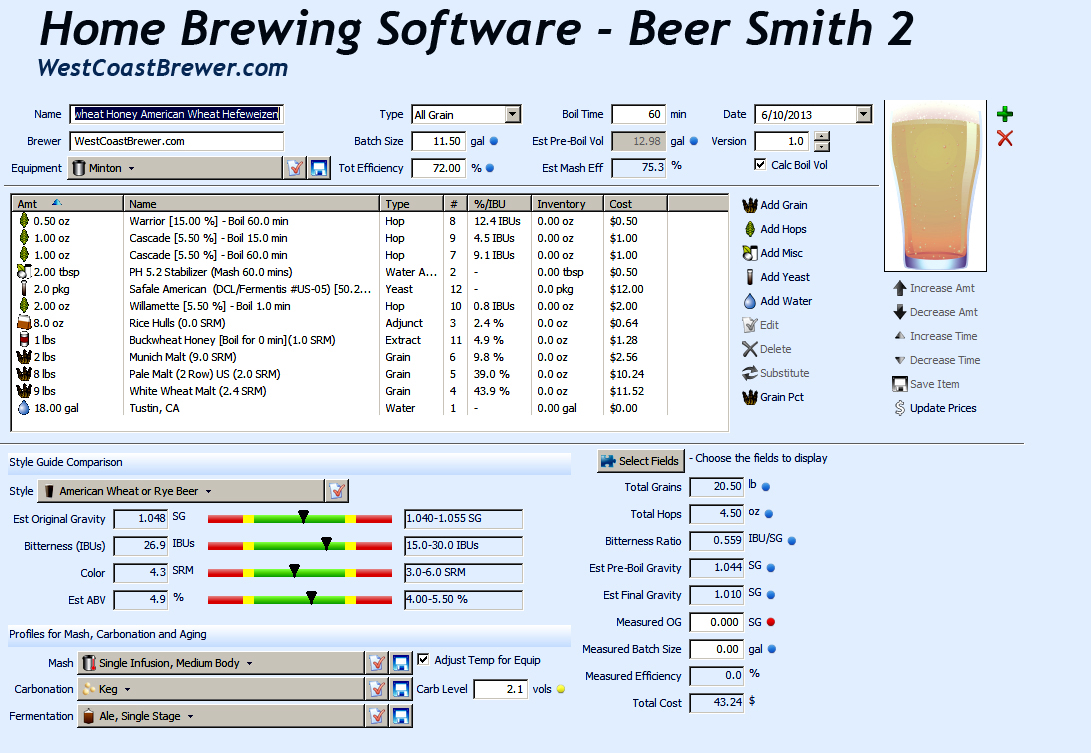 Beersmith home brewing software win cracked tiumibo for Brewery layout software