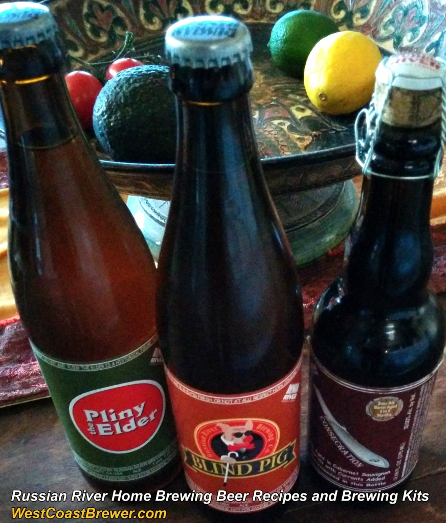Russian River Clone Recipe for Pliny the Elder, Blind Pig and Consecration