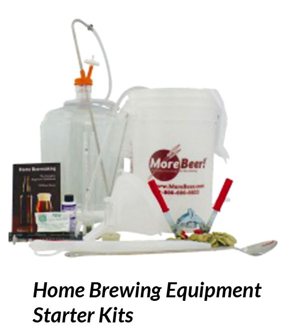 Homebrewing Equipement Starter Kit Includes most of the basic equipment you need to brew beer at home