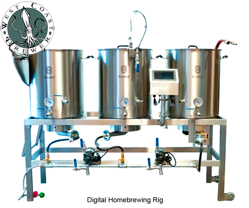 Digital Homebrewing System and Brew Rig
