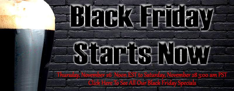 Homebrewing Black Friday Sale
