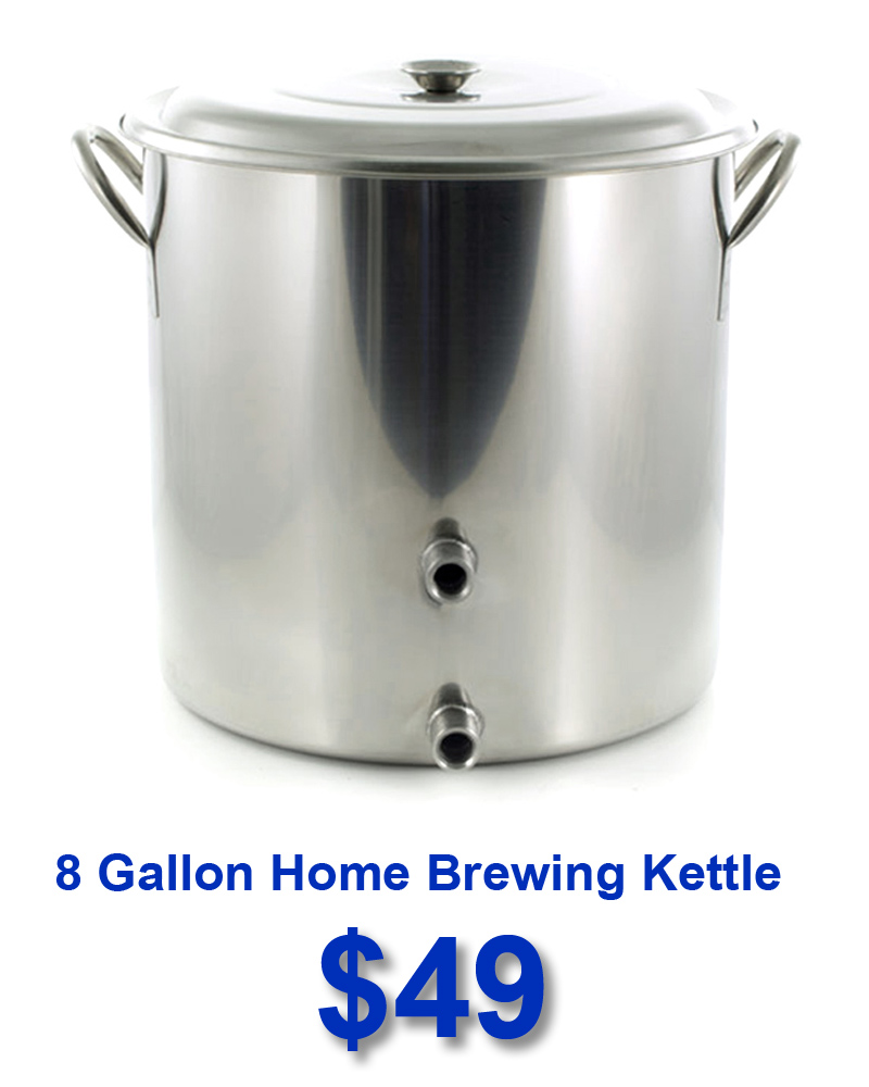 Stainless Steel 8 Gallon Home Brewing Kettles