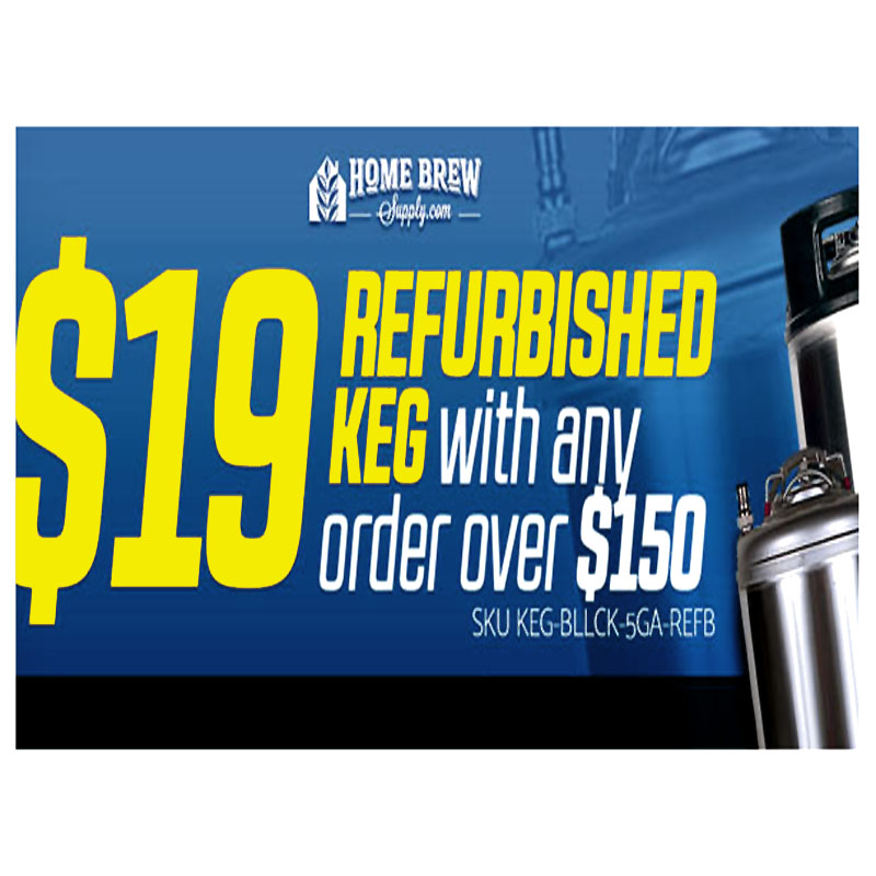 Coupon Code For Homebrewing Keg for just $19 Coupon Code