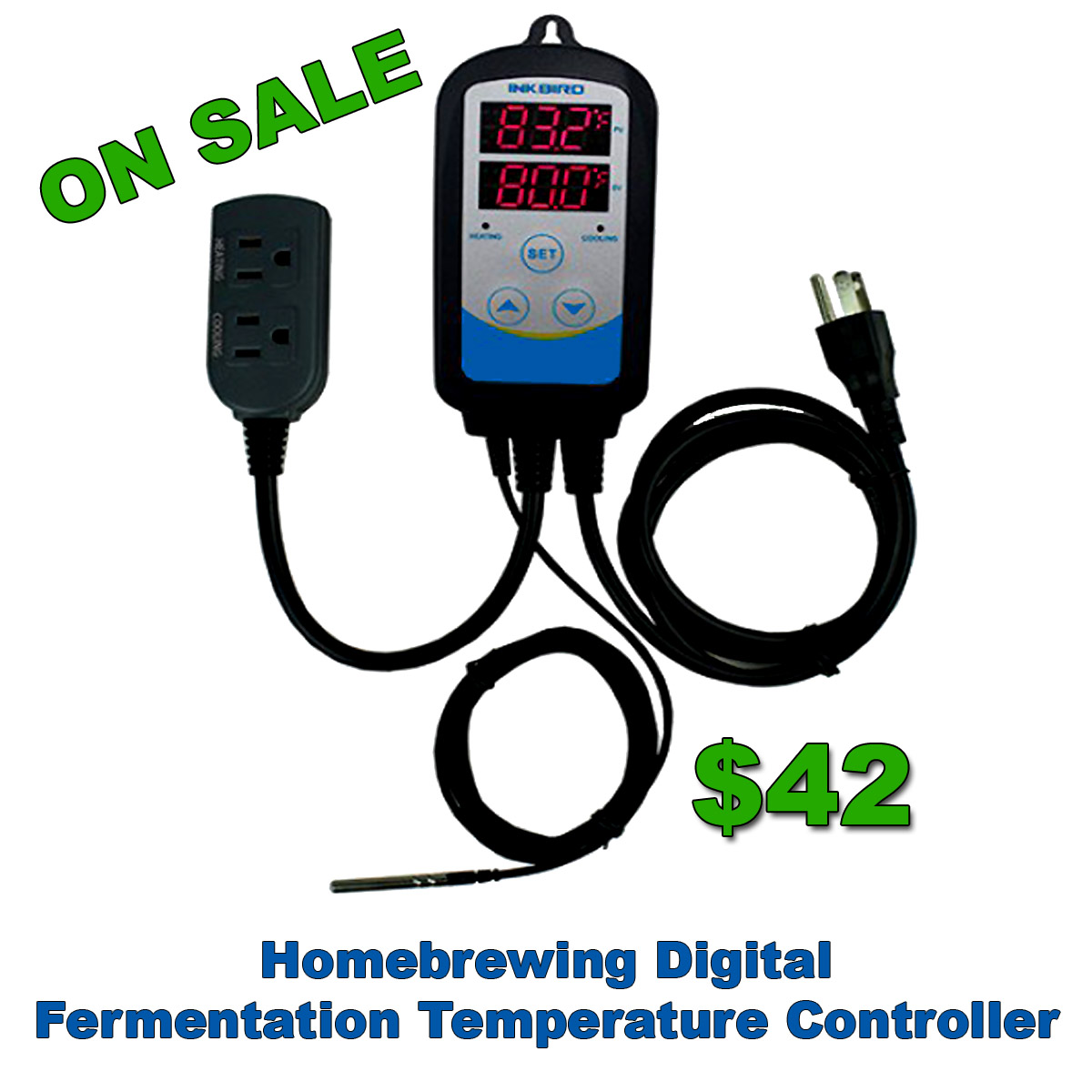 Code: Homebrewing Digital Fermentation Temperature Controller On Sale #22B000