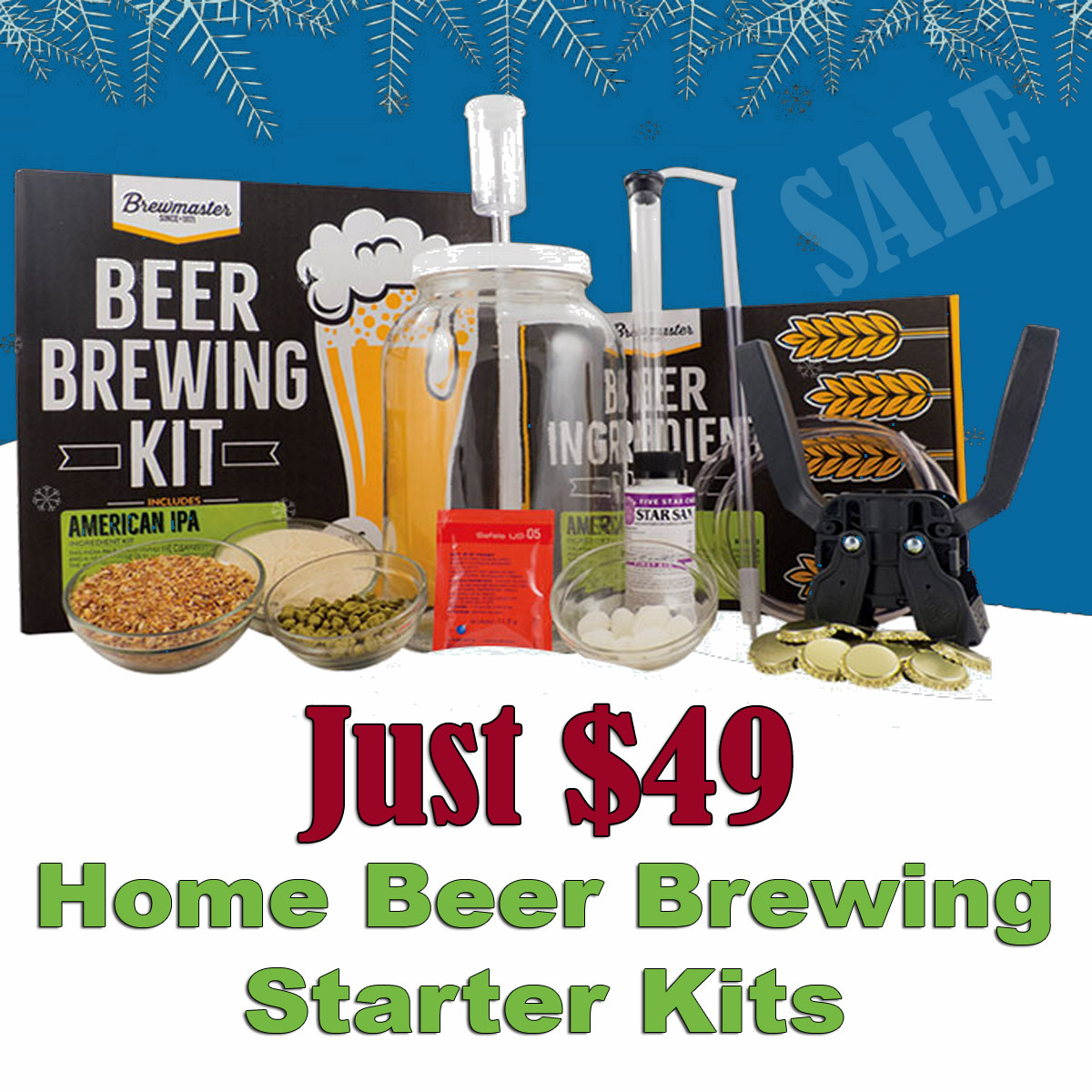 MoreBeer Home Beer Brewing Kits Just $49! The Perfect Christmas Gift! Sale