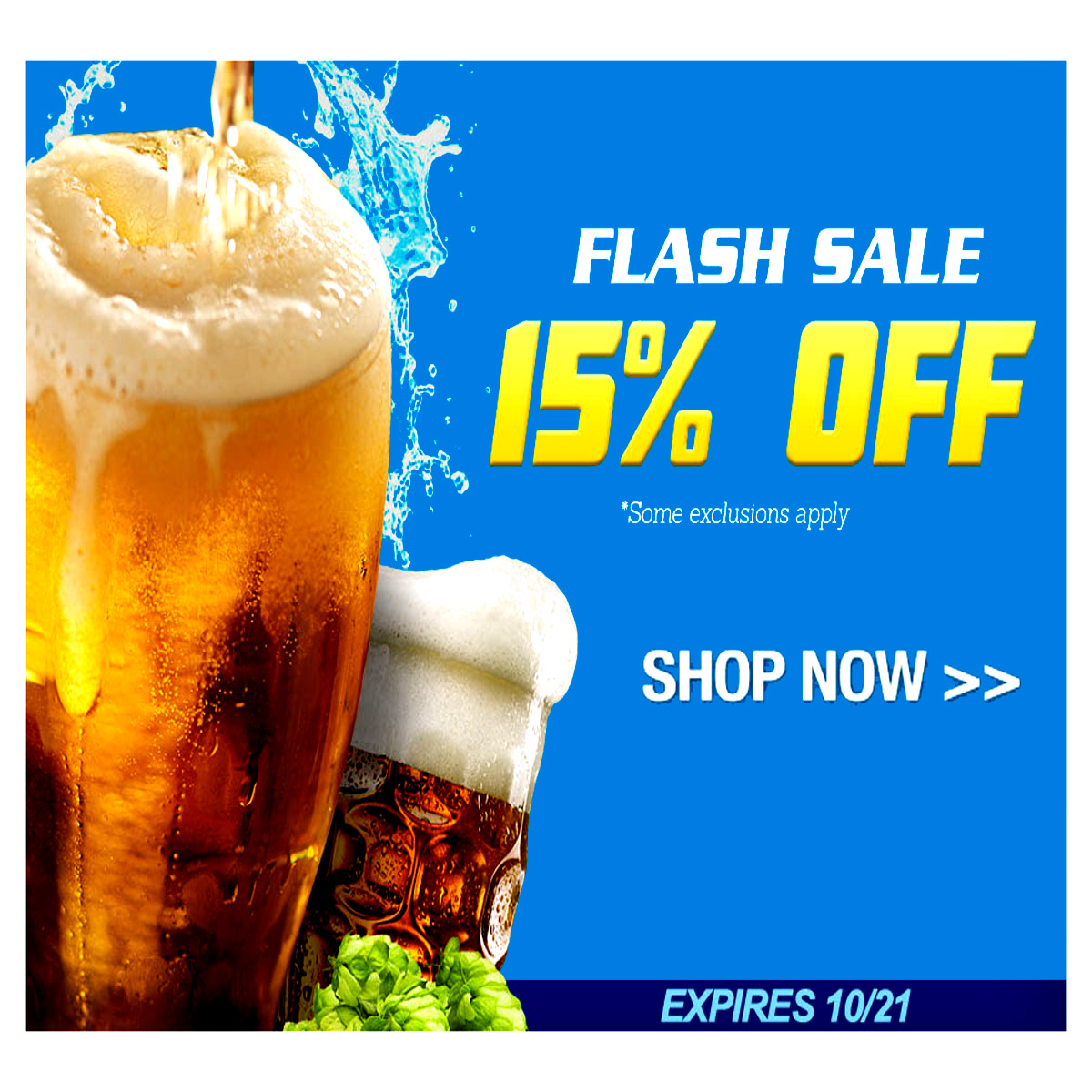 Coupon Code For Homebrew Flash Sale - Save 15% Coupon Code
