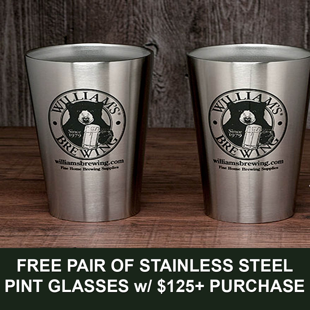 Coupon Code For Spend $125+ and Get a Free Pair of Stainless Steel Pint Glasses Coupon Code
