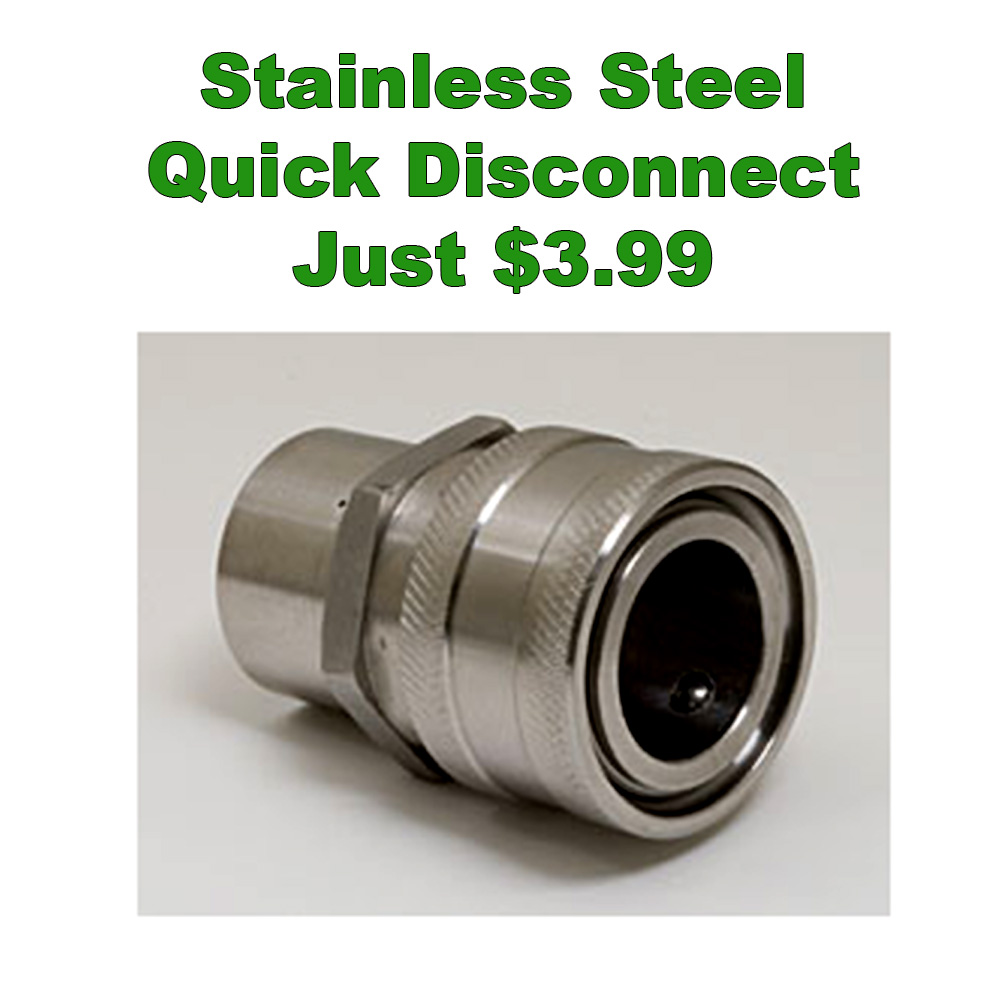 Coupon Code For Get a Stainless Steel Female to Female Quick Disconnect for Just $3.99 Coupon Code