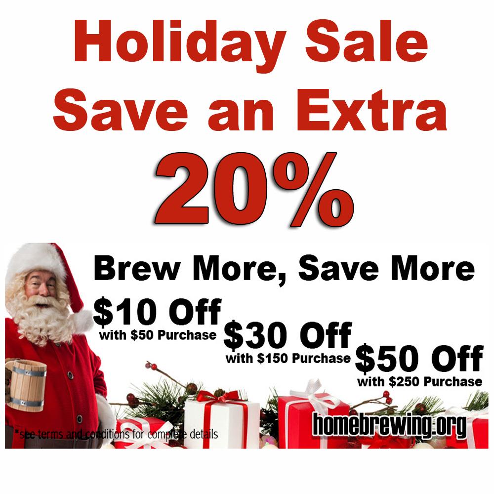 Sale For Save Up To An Additional 20% During the Adventures in Homebrewing Sale! Sale