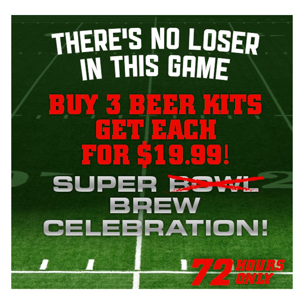 Coupon Code For Get 3 Select Beer Kits for $19.99 Each + Shipping Coupon Code