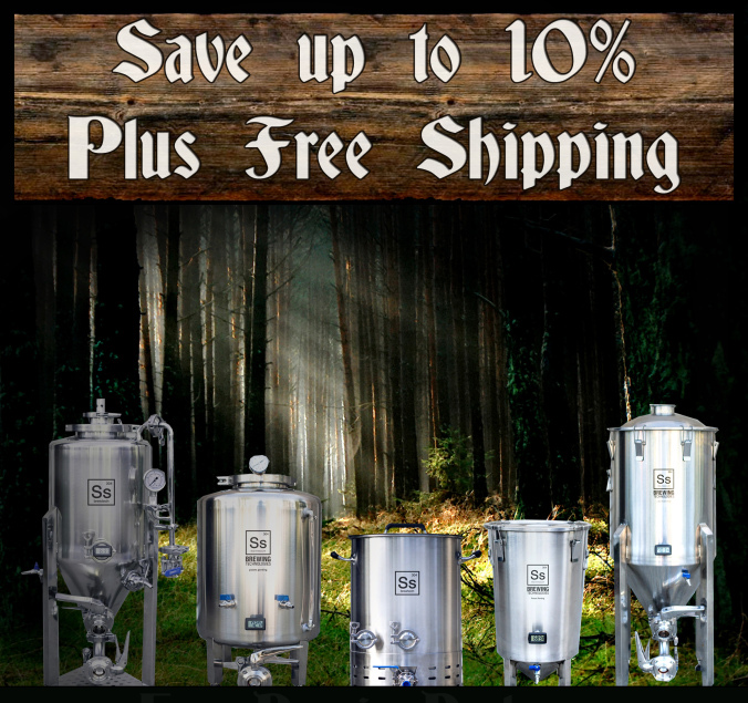 Coupon Code For Save Up To 10% And Get Free Shipping On Ss BrewTech Fermenters and Kettles Coupon Code