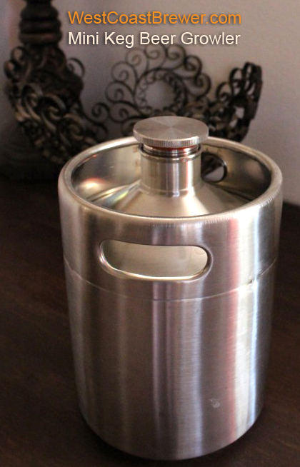 Stainless Steel Miniature Keg Growler